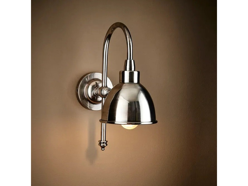 Austin Metal Adjustable Wall Light, Silver