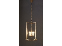 LivingStyles St Palais Rustic Metal Pendant Light - Small