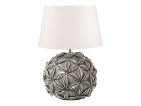 LivingStyles Noosa Ceramic Table Lamp with Ivory Linen Shade