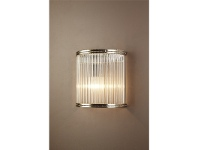 LivingStyles Verre Half Round Glass Wall Light
