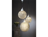 LivingStyles Madeira Glass Ball Pendant Light - Medium