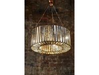 LivingStyles Witney Metal and Glass Ring Pendant Light - Small