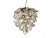 LivingStyles Petals Crystal Glass Pendant Light, Small