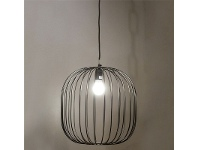 LivingStyles Alex Wire Metal Podgy Shade Pendant Light