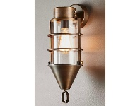 LivingStyles Eastwood Metal and Glass Bunker Wall Light