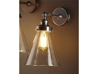 LivingStyles Francis Metal & Glass Wall Light - Antique Silver