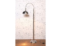 LivingStyles Columbus Metal Floor Lamp - Antique Silver