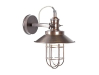 LivingStyles Maine Metal Bunker Wall Sconce - Copper