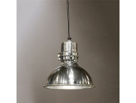 LivingStyles Augusta Metal Pendant Light, Medium, Antique Silver