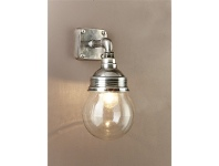 LivingStyles Dover Metal & Glass Wall Sconce - Antique Silver