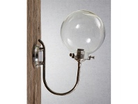 LivingStyles Catalina IP54 Indoor/Outdoor Metal & Glass Wall Sconce - Antique Silver