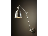 LivingStyles Cromwell Adjustable Metal Wall Lamp - Antique Silver
