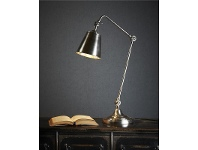LivingStyles Cromwell Adjustable Metal Table Lamp - Antique Silver