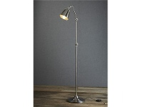 LivingStyles Cromwell Adjustable Metal Floor Lamp - Antique Silver