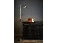 LivingStyles Michigan Metal Floor Lamp - Antique Silver
