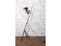 LivingStyles Belvidere Metal Tripod Floor Lamp - Antique Silver
