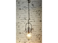 LivingStyles Chapel Metal Pendant Light - Antique Silver