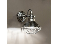 LivingStyles Twain Metal Wall Light, Antique Silver