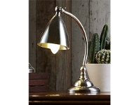 LivingStyles Brentwood Industrial Metal Table Lamp - Antique Silver