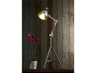 LivingStyles Dolby Industrial Adjustable Metal Tripod Table Lamp