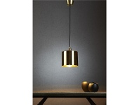 LivingStyles Portofino Metal Pendant Light, Brass