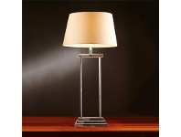 LivingStyles Bondi Metal Table Lamp with Ivory Linen Shade