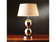 LivingStyles Diesel Metal Table Lamp with Ivory Linen Shade