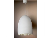 LivingStyles Washington Metal Pendant Light, White/Silver