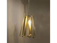 LivingStyles Mona Vale Metal Spiral Pendant Light, Brass