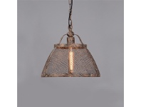 LivingStyles Lorenzo Rustic Metal Pendant Light, Large