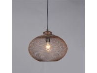 LivingStyles Carlo Rustic Metal Pendant Light, Medium