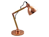 LivingStyles Leith Wooden Arm Table Lamp