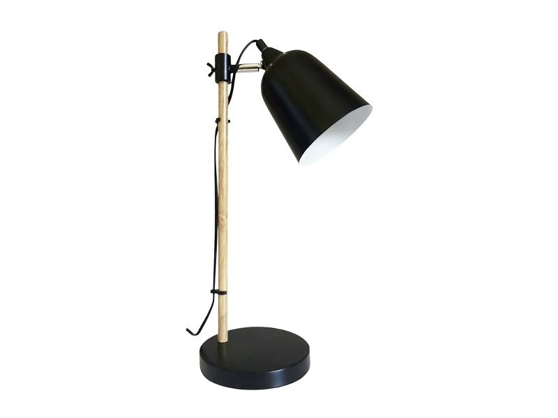 Cobar Metal Table Lamp, Black