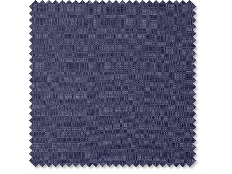 Eric Australian Made Buttoned Fabric Bed, Double Size, Navy