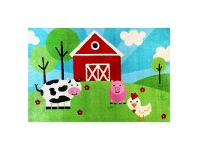 Essna Farm Sunshine Egyptian Made 133x200cm Kids Rug