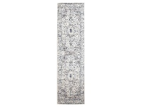 LivingStyles Evoke Mist Turkish Made Oriental Runner Rug, 300x80cm, White