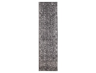 LivingStyles Evoke Estella Turkish Made Oriental Runner Rug, 400x80cm, Charcoal