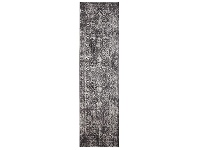 LivingStyles Evoke Muse Turkish Made Oriental Runner Rug, 500x80cm, Charcoal