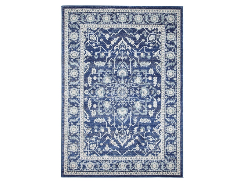 Evoke Release Turkish Made Oriental Rug, 290x200cm, Navy