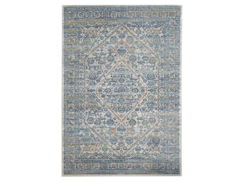 Evoke Duality Turkish Made Oriental Rug, 400x300cm, Silver