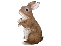 LivingStyles Sitting Rabbit Polyresin Figurine Decor