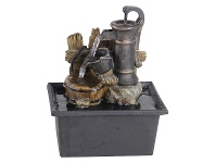LivingStyles Rusty Pump Fountain - 21cm