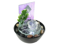 LivingStyles Water Glass Fountain - 22cm