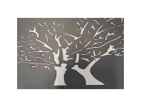 LivingStyles Blossoming Metal Wall Plaque