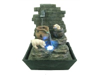 LivingStyles Pig Tap Fountain - 27cm