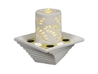 LivingStyles Leaf Candle Fountain - 25cm