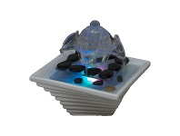 LivingStyles Flower Flow Water Fountain