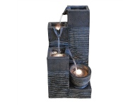LivingStyles Block Water Fountain - 40cm
