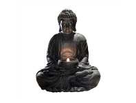 LivingStyles Vast Buddha Figurine with Tealight Holder