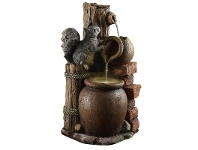 LivingStyles Squirrel and Urn Cascade Water Fountain